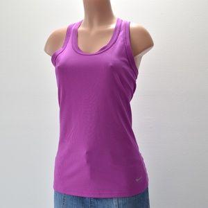 Nike Dri-Fit Tight Fit Purple Tank Top Size M